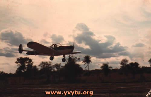 El ZP-TAS aterrizando en Yvytú